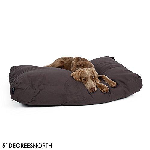 Hundekissen große und kleine Hunden und Katzen, Grau, Dark Grey, Hundebett waschbar Baumwolle, Medium, Extra Large, M, XL (Medium)