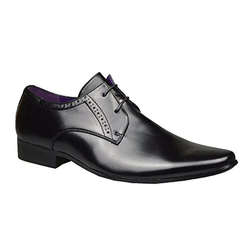 Robelli Men's Fashion Faux Leather Formal Shoes, 10 UK – Black 2