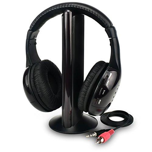 Rybozen 5 in 1 cuffia wireless TV televisione digitale auricolare over-ear  Music Headset con 139e4acb23a6