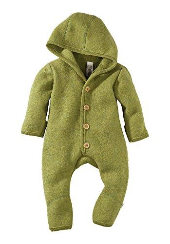 df8f16b00d8e27 hessnatur Baby Mädchen und Jungen unisex Walkoverall aus reiner Bio- Schurwolle moos 74 80