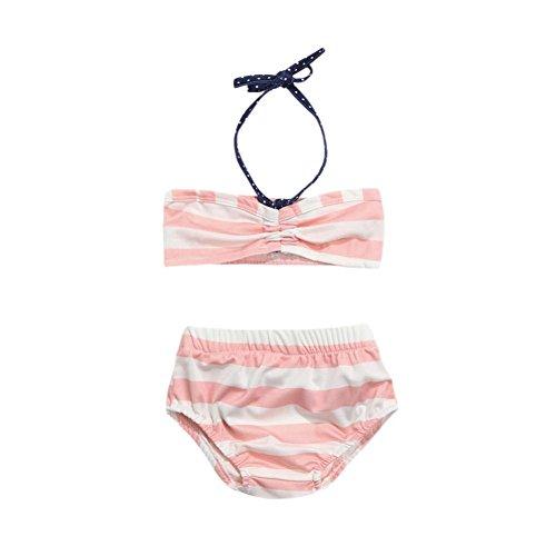 4ba475c4effc Swimwear For 0-3 Years Old Girls, ❤ Xinantime 2Pcs Kids Baby Girls Straps  Stripe Bikini Set Swimsuit Bathing Outfits (6-12M, Pink) - Buy Online in  UAE.