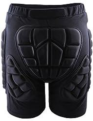 Short de compression avec coussinets 3D anti-chute West Biking pour protection des hanches, fesses, pour ski, snowboard, patinage, hockey, équitation, protection contre les chocs