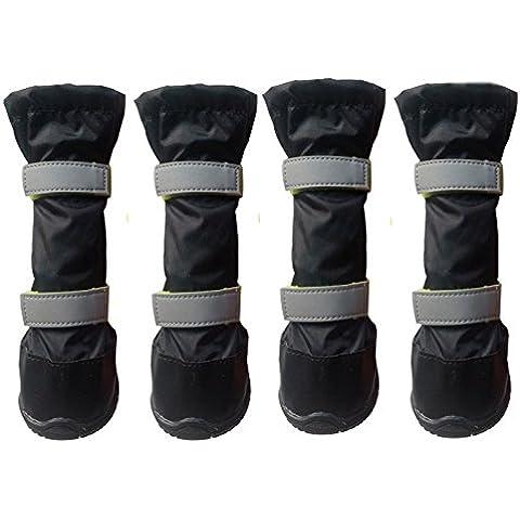 pet stivali antiscivolo resistente robusto accogliente morbido accogliente impermeabile riflettente