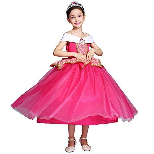 Das Beste Mädchen Kostüm Aurora Princess Halloween Geburtstag Party Kleid Cosplay Fancy (Für Firefly Kinder Kostüm)