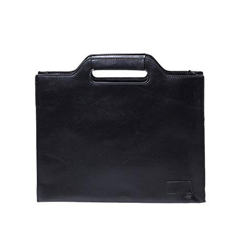 Preisvergleich Produktbild ALHM One-Shoulder-Diagonale Tasche Herren Casual Aktentasche Aktentasche 10 Zoll, Black-OneSize