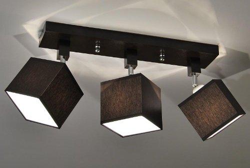Kaiser-Handel Designer Decken-Leuchte Lampe Retro Spot Strahler E27 New York 10 (Sockelfarbe: Wenge)