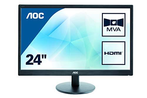 """AOC M2470SWH - Monitor de 23.6"""" (resolución 1920 x 1080 pixels, tecnología WLED, contraste 3000:1, 5 ms, VGA), color negro"""