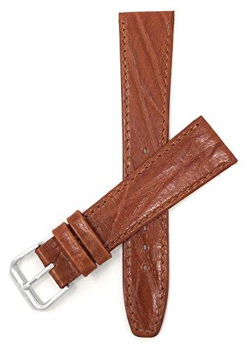 Extra Lang (XL) Leder Uhrenarmband 12mm, Hellbrun, dünn, halbglänzende Oberfläche, auch verfügbar in schwarz, braun und grün