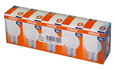 5 x OSRAM Glühbirne Glühlampe Tropfen 25W 25 Watt E27 MATT von OSRAM bei Lampenhans.de