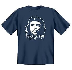 Revoluzzer T-Shirt Viva El Che Gr S in rauch-blau