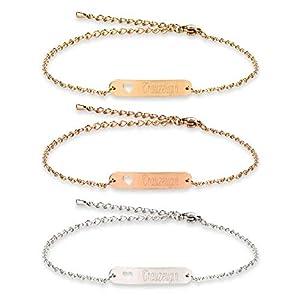 Armband mit Namen Gravur | ID Armband | Personalisierte Geschenke | Individuelle Wunschgravur | Personalisierter Schmuck…