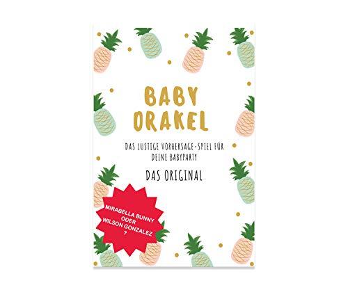 y Spiel - Baby Orakel für Deine Baby Shower - Das Original - A5 Block zum Beschreiben - 25 Spieler - Junge oder Mädchen - Ratespiel ()
