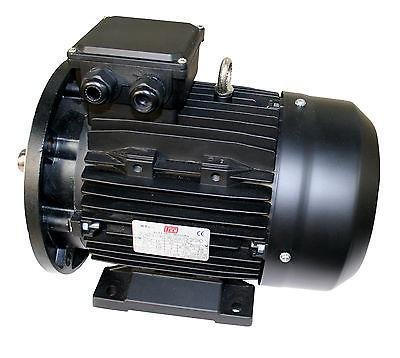 3, 7KW 4 POLE B35 SINGLE PHASE 240 V ELECTRIC MOTOR 3, 741TCCB35 -