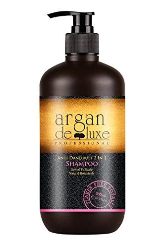 Arganöl Anti-Schuppen Shampoo in Friseur-Qualität ✔ Hochwirksam, Getestet, Intensiv Pflegend ✔ Argan DeLuxe, 300ml