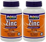 Best Now Foods Liver Supplements - Now Foods Zinc Gluconate 50mg Tablets, 500-Count Review