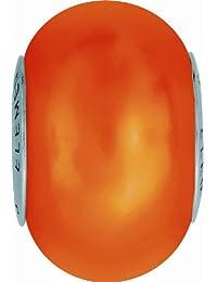 Grand Trou Perles de Crystal de Swarovski Elements 'Crystal BeCharmed' 14mm (Crystal Neon Orange, Acier affiné), 12 Pièces