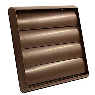6 INCH ROUND 150MM BROWN GRAVITY GRILLE VENT WITH NON RETURN SHUTTER FLAPS - DUCTING FITTING BY KAIR VENTILATION