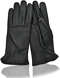 Men's Gloves Genuine Leather With Soft Fleece Lining