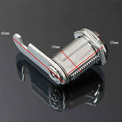 Busirde Tür-Kabinett-Schrank Kommode Workbox Toolbox Schublade Locker Strongbox Brief Game Box Key Drehen Cam Schließzylinder