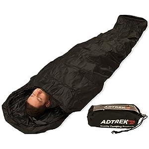 41ae9FthkjL. SS300  - Adtrek Camping/Fishing Waterproof Sleeping Bag Bivvy Bag Cover, 235cm x 85cm, Carry Bag Included
