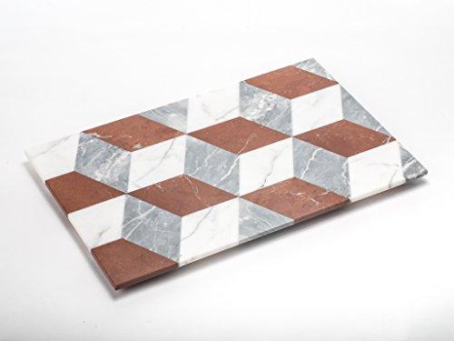 D005 - APUANA CORPORATE - Vassoio PATCHWORK mod. Rhombs - Designer Massimiliano Settimelli