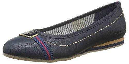 Tom Tailor  9690504,  Damen Slingback Ballerinas , blau - Blau (Marineblau) - Größe: 41 EU
