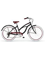 "Beach Cruiser HONOLULU 26"" dame noir 2016"