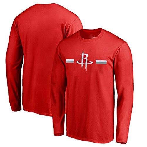 YUNMO Basketball Neue Langarm-Kostüm NBAT Shirt Herbst Cavaliers Rockets atmungsaktiv schnell trocknend Trainingsanzug Aufwärmen (Color : A, Size : XL)
