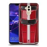 Head Case Designs Speed Rot Klassische Automobile Ruckseite Hülle für Huawei Mate 20 Lite