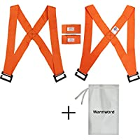 warmword 4pieces Furniture Lifting Straps, Furniture Moving and Lifting Straps Adjustable