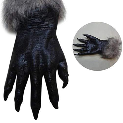 Yongse Classic Halloween Werwolf Wolf Pfote Krallen Cosplay Handschuhe Creepy Horror Devil Kostüm ()
