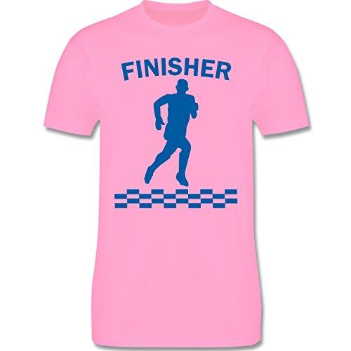 Laufsport - Finisher - Herren Premium T-Shirt Rosa