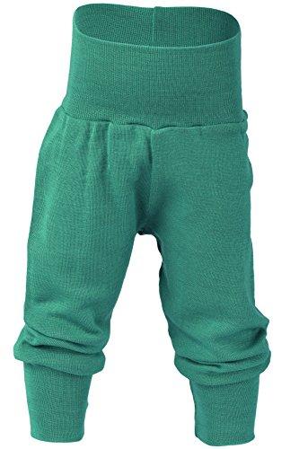 Engel Bio Merino Wolle Seide Baby Hose Longies Pyjama, unten Eco 70 3501 Satinband, Eisvogel,Gr.62/68