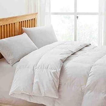 luxury white goose feather down duvet quilt 13 5 tog. Black Bedroom Furniture Sets. Home Design Ideas
