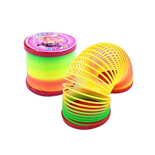 Kunststoff-Magic Slinky Regenbogen Frühling Lustige klassisches Spielzeug Mini Slinky-Smiley Federn Kinder Spielzeug Pinata Party-Geschenke ()