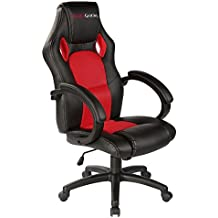 Mars Gaming MGC1BR - Silla gaming profesional con ruedas, inclinación 15 grados y altura regulables