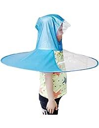 Mxssi Creativo Divertido Impermeable Sombrero Paraguas Sombrero Cap Al Aire Libre Pesca Golf Niño Adulto Capa