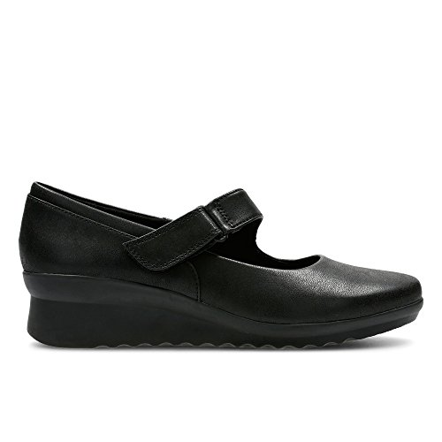 Clarks Caddell Yale Textile Shoes In Black Standard Fit Size 9