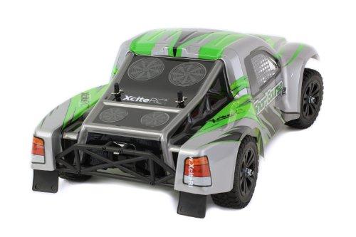 XciteRC 30407000 RC Auto Shortcourse one12 - 2WD Ready To Race Modellauto, grüne Karosserie 1:12 mit 2.4 GHz Fernsteuerung - 2