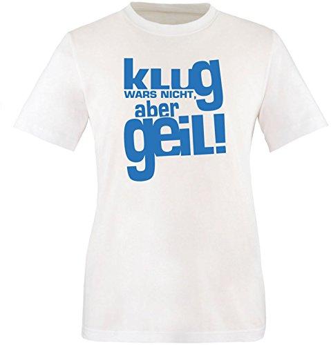 Luckja Klug war es nicht aber Geil Herren Rundhals T-Shirt Weiss/Blau