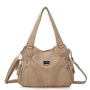 angel kiss Hobo Tasche Schultertaschen Handtaschen Umhängetaschen Henkeltaschen Fredsbruder Taschen Damen Weiches Leder