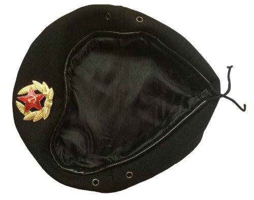ganwear® sowjetischen UdSSR Stil russische Armee Uniform Schwarz Beret Hat Cap Omon MWD Special Forces Badge