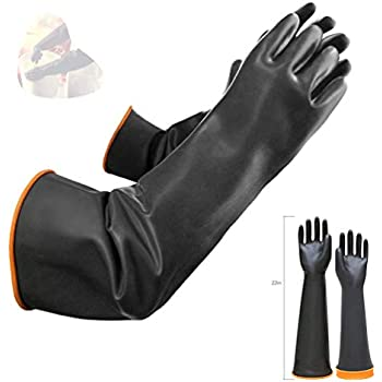 Latex Chemical Gloves Resistant Rubber Ppe Industrial
