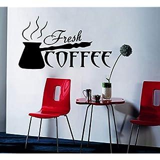 ZZSXC Text Wandaufkleber Fleischigen Kaffee Englisch Slang Wandaufkleber Vinyl Küche Kunst Hintergrund Dekoration Abnehmbare Autostereo Wandbild 22,6 * 13 cm