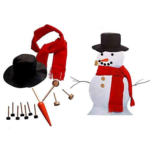 zierung Dressing Kit Winterurlaub Spielzeug für draußen einschließlich Hut Schale Rohr Augen Mund Stupsnase Zubehör 1PACK ()