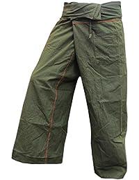 Panasiam Thai Fisherman Hose, aus echter fester Baumwolle, Size S bis XL, passt von 160cm bis 195cm Körpergröße, mit Tasche, hier in 5 verschiedenen Farben, Blitzversand!!