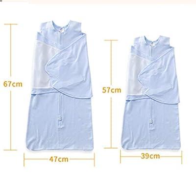 Saco de dormir para bebé 100% algodón de calidad con diseño de alas de bebé, unisex (1-6 meses), color azul nube