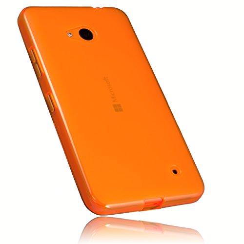mumbi Schutzhülle Microsoft Lumia 640 Hülle transparent orange