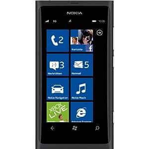 """Nokia Lumia 800 Smartphone Écran tactile 9,4 cm (3,7"""") Appareil photo 8 Mpx Windows Phone Mango OS Branding T-Mobile Noir (Import Allemagne)"""