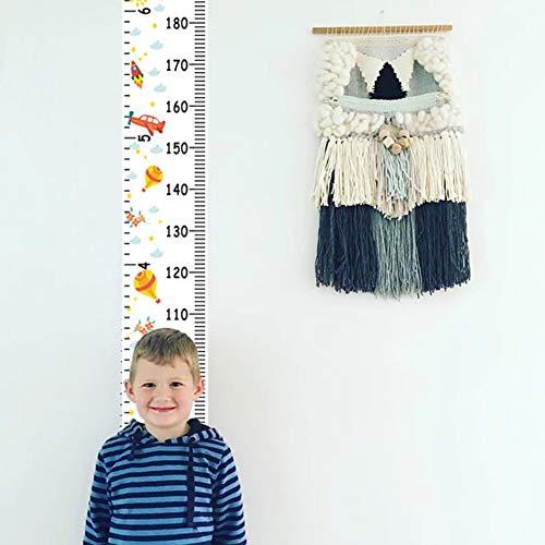 strimusimak Nordic Style Kinder-Messlatte mit Messlatte für Kinderzimmer, Wanddekoration, Multi